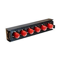 Лицевая вставка для MPO панелей Legrand LCS3, 6хST, Simplex Single mode, цвет: красный
