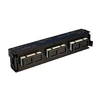 Лицевая вставка для MPO панелей Legrand LCS3, 6хSC, Duplex Multi mode, цвет: чёрный