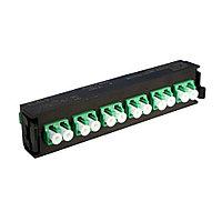 Лицевая вставка для MPO панелей Legrand LCS3, 12хLC/APC, Duplex Single mode, цвет: зелёный