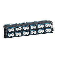 Лицевая вставка для MPO панелей Legrand LCS3, 24хSC, Duplex Single mode, цвет: голубой