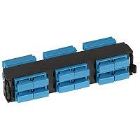 Лицевая вставка для MPO панелей Legrand LCS3, 12хSC, Duplex Single mode, цвет: голубой