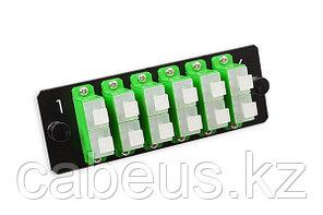 Лицевая вставка для MPO панелей Nexans LANmark-OF, 12хSC/APC SM, Duplex, цвет: зелёный