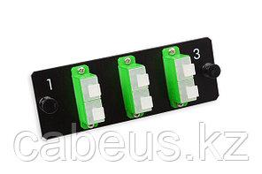 Лицевая вставка для MPO панелей Nexans LANmark-OF, 6хSC/APC SM, Duplex, цвет: зелёный