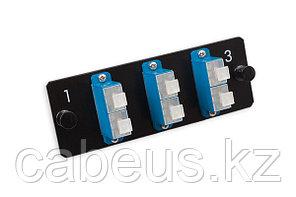 Лицевая вставка для MPO панелей Nexans LANmark-OF, 6хSC SM, Duplex, цвет: голубой