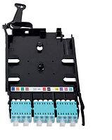 Кассета MPO Nexans ENSPACE MTP, Standard, 12хОВ, LC, OM4 50/125, цвет: голубой, с многомодовыми адаптерами, с