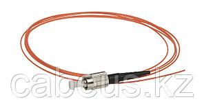 Пигтейл ITK, FC/UPC, OM2 50/125, Simplex, LSZH, 1,5м, чёрный хвостовик, цвет: оранжевый