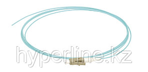 Пигтейл ITK, LC/UPC, OM3 50/125, Simplex, LSZH, 1,5м, белый хвостовик, цвет: голубой