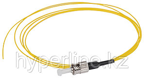 Пигтейл ITK, ST/UPC, OS2 9/125, Simplex, LSZH, 1,5м, чёрный хвостовик, цвет: жёлтый