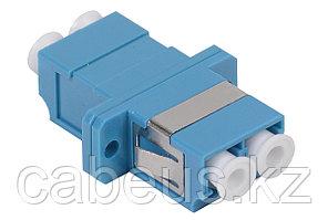 Проходной адаптер оптический ITK, LC/UPC SM, Duplex, синий
