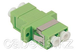 Проходной адаптер оптический ITK, LC/APC SM, Duplex, зелёный