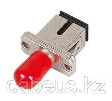 Проходной адаптер coupler Nikomax, ST-SC/UPC SM, Simplex, металл