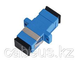 Проходной адаптер coupler Nikomax, SC/UPC SM, Simplex, синий