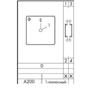 Переключатель кулачковый CH 10 A200-600 FT2 Kraus&Naimer, фото 2