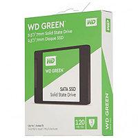Твердотельный накопитель 120GB SSD WD GREEN 2.5 SATA3 R545Mb/s Толщина 7мм WDS120G2G0A