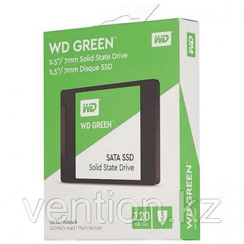 """Твердотельный накопитель 120GB SSD WD GREEN 2.5"""" SATA3 R545Mb/s Толщина 7мм WDS120G2G0A"""