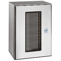 Шкаф электротехнический настенный Legrand ATLANTIC INOX, IP66, 700х500х250 мм ВхШхГ, дверь: стекло в раме, корпус: сталь, 035226