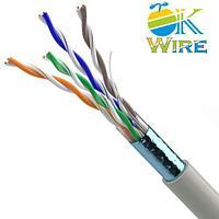 Кабель сетевой OK-WIRE FTP Cat.5e ПВХ 4*2*0,51mm 305м/упак. 100% безкислородная медь