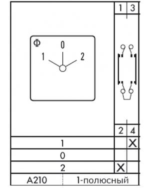 Переключатель кулачковый CH 10 A210-600 E Kraus&Naimer, фото 2