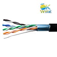 Кабель сетевой OK-WIRE FTP Cat.5e ПВП 4*2*0,51mm Наруж. 305м/упак. 100% безкислородная медь