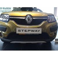 Защитная сетка/решетка радиатора для Renault Sandero Stepway/Рено Сандеро Степвей 2014-, фото 1