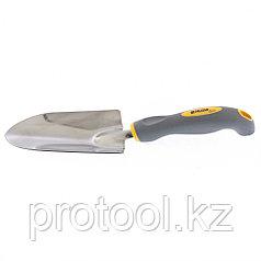 Совок посадочный широкий, 90 x 320 мм, нержавеющая сталь, двухкомпонентная рукоятка, Premium Plus Palisad