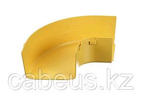 Угол Panduit FiberRunner, горизонтальный, прав., 107х273,7 мм ВхШ, для шкафов, пластик, цвет: жёлтый
