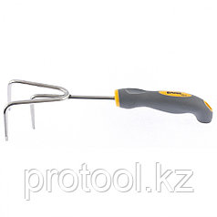 Рыхлитель 3-зубый, 80 x 310 мм, нержавеющая сталь, двухкомпонентная рукоятка, Premium Plus Palisad
