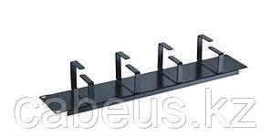 Организатор коммутационных шнуров AMP, 1HU, 45х60 мм ВхГ, кольцевого типа, 4 кольца, для кабеля, цвет: чёрный