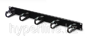 Организатор коммутационных шнуров AMP, 19, 2HU, 76х95 мм ВхГ, кольцевого типа, 5 колец, для кабеля, цвет: