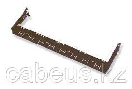 Организатор коммутационных шнуров AMP, 1HU, 57 мм Г, горизонтальный, для кабеля, цвет: чёрный