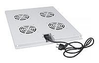 Вентиляторный модуль Cabeus, 1U, 40х423х515 мм ВхШхГ, вентиляторов: 4, поток: 600 м3/ч, в напольные шкафы серии SH-05C глубиной 800мм, цвет: серый