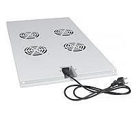 Вентиляторный модуль Cabeus, 1U, 40х417х715 мм ВхШхГ, вентиляторов: 4, поток: 600 м3/ч, в напольные шкафы серии SH-05C глубиной 1000мм, цвет: серый