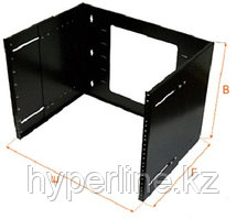 Кронштейн Lanmaster, настенный, 2U, 89х148х488 мм ВхШхГ, регулируемая глубина 230-340 мм, 19, цвет: чёрный