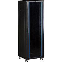Шкаф серверный напольный TWT Business, IP20, 47U, 800х800 мм ШхГ, дверь: стекло, задняя дверь: двойная распашная, металл, боковая панель: сплошная