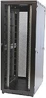 Шкаф серверный напольный Eurolan S3000, IP20, 42U, 2030х600х800 мм ВхШхГ, дверь: перфорация, задняя дверь: перфорация, боковая панель: сплошная,