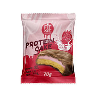 Печенье Fit Kit - Protein Cake, 70 гр Клубника со сливками