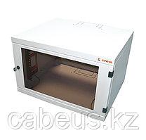 Шкаф телекоммуникационный настенный CONTEG REN, 19, 6U, 332х530х300 мм ВхШхГ, дверь: стекло, сварной, цвет: