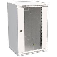 Шкаф телекоммуникационный настенный CONTEG SOHO MINI, 10, 9U, 459х300х260 мм ВхШхГ, дверь: стекло, сварной,