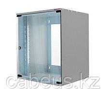 Шкаф телекоммуникационный настенный Canovate SOHO, 19, 12U, 603х500х450 ВхШхГ, дверь: стекло, разборный, цвет:
