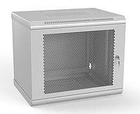 Шкаф телекоммуникационный настенный Hyperline TWL, 19, 9U, 500х600х600 мм ВхШхГ, дверь: перфорация, боковая панель: сплошная несъемная, разборный,