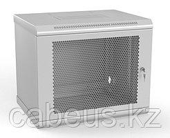 Шкаф телекоммуникационный настенный Hyperline TWL, 19, 9U, 500х600х600 мм ВхШхГ, дверь: перфорация, боковая