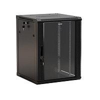 Шкаф телекоммуникационный настенный Hyperline TWB, 19, 6U, 367х600х450 мм ВхШхГ, дверь: стекло, разборный, цвет: чёрный