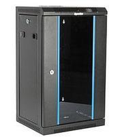 Шкаф телекоммуникационный настенный Hyperline TDC, 10, 15U, 740х370х300 мм ВхШхГ, дверь: стекло, сварной, цвет: чёрный