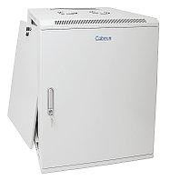 Шкаф телекоммуникационный настенный Cabeus, 19, 18U, 901х600х600 мм ВхШхГ, дверь: металл, сварной, цвет: серый, съемная панель для крепления шкафа к