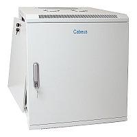 Шкаф телекоммуникационный настенный Cabeus, 19, 12U, 635х600х350 мм ВхШхГ, дверь: металл, сварной, цвет: серый, съемная панель для крепления шкафа к