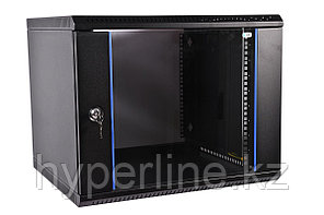 Шкаф телекоммуникационный настенный ЦМО ШРН-Э, 19, 15U, 746х600х500 мм ВхШхГ, дверь: стекло, боковая панель: