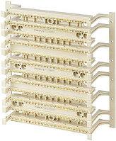 Кросс-панель Panduit PAN-PUNCH, 19, 6HU, 300x110, кат. 5е, универсальная, цвет: белый, с ножками, P110BW300-X