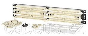 Кросс-панель Panduit PAN-PUNCH, 19, 2HU, 100x110, кат. 5е, универсальная, цвет: белый, в комплекте 4-парные