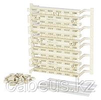 Кросс-панель Panduit GP6, 19, 4HU, 72x110, кат. 6, универсальная, цвет: белый, в комплекте 4-парные блоки,