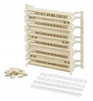 Кросс-панель Panduit GP6, 19, 6HU, 108x110, кат. 6, универсальная, цвет: белый, в комплекте 4-парные блоки,